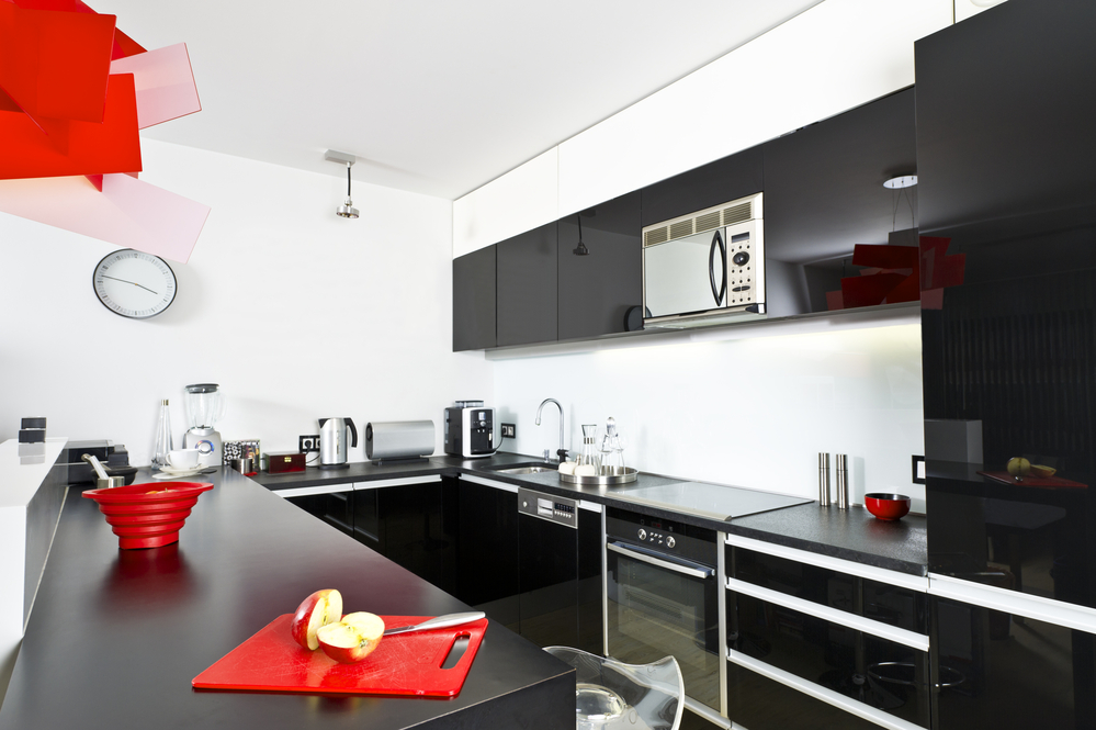 kitchen with smart appliances